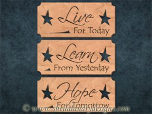 Scroll Saw Live Love Hope Pattern