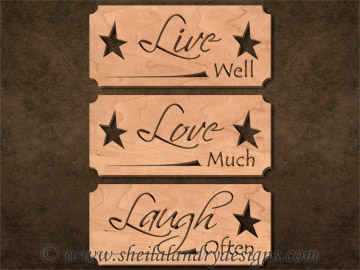 Scroll Saw Live Love Laugh Pattern