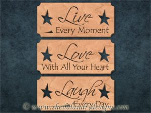 Scroll Saw Live Love Laugh Pattern