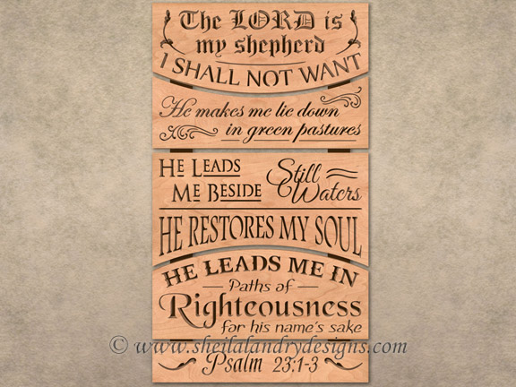 Scroll Saw Lord Is My Shepherd