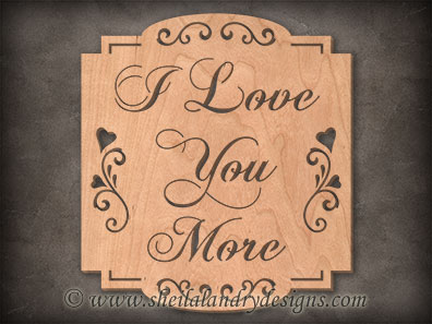 Scroll Saw Love You Pattern