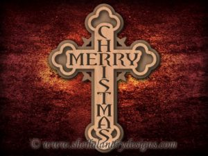 Scroll Saw Merry Christmas Cross