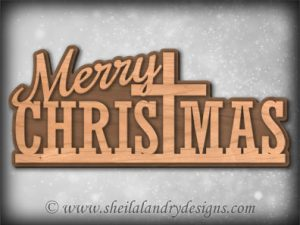 Scroll Saw Merry Christmas Pattern