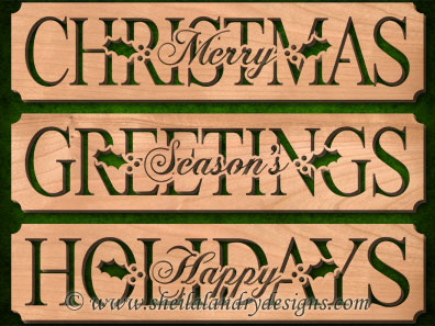 Scroll Saw Merry Christmas Patterns