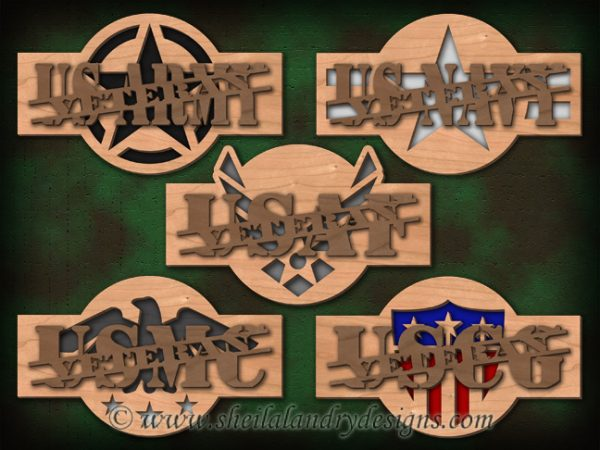 Scroll Saw Military Veteran Pattern