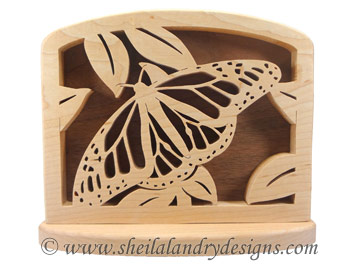 Scroll Saw Butterfly Napkin Holder