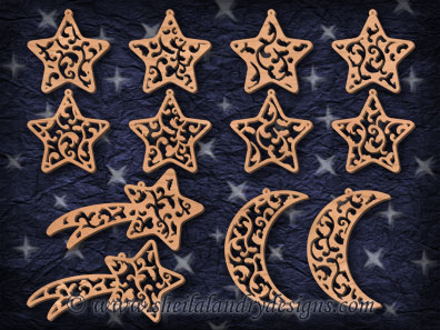 Scroll Saw Moon Star Pattern