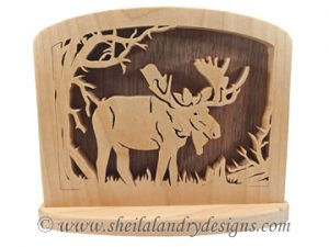 Scroll Saw Moose Napkin Holder Pattern