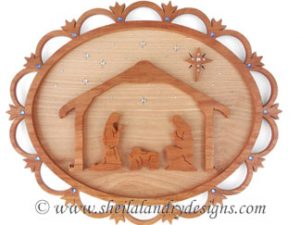 Scroll Saw Nativity Plaque Pattern