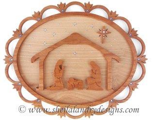 Scroll Saw Nativity Plaque Pattern