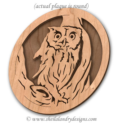Owl Napkin Holder Laser Pattern