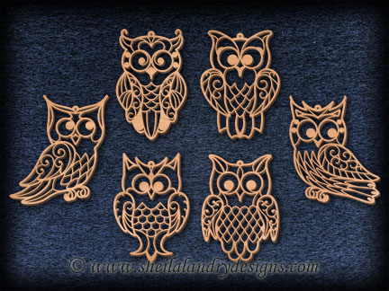 Scroll Saw Owl Ornaments