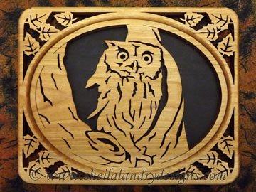 Scroll Saw Screech Owl Pattern