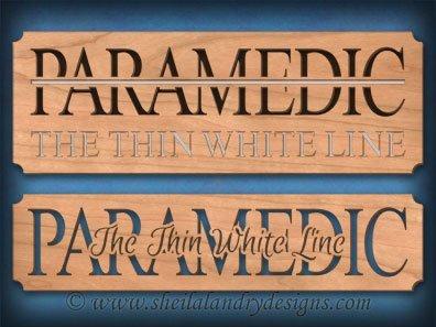 Scroll Saw Paramedic EMS Pattern