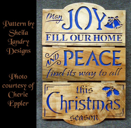 Scroll Saw Peace Christmas Pattern