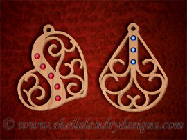 Scroll Saw Pendants Pattern