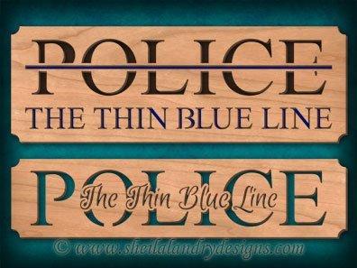 Scroll Saw Police Thin Blue Line Pattern