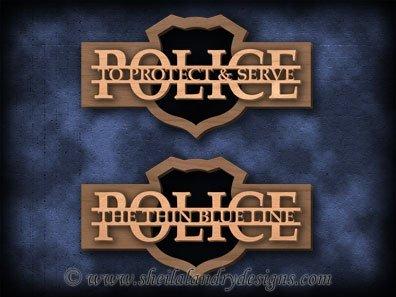 Scroll Saw Police Pattern