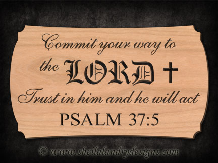 Scroll Saw Psalm Lord Pattern