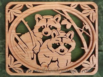 Scroll Saw Raccoon Pattern