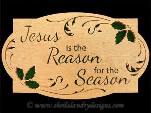 Scroll Saw Reason For The Season Pattern