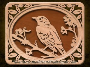 Scroll Saw Robin Pattern