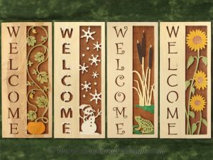Scroll Saw Seasonal Welcome Pattern