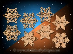 Scroll Saw Snowflake Ornaments Pattern