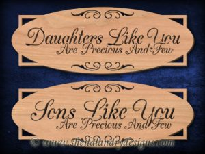 Scroll Saw Son Daughter Pattern