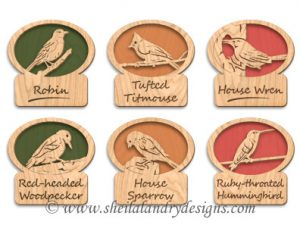 Scroll Saw Songbirds Pattern Set 2