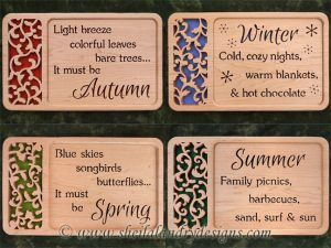 Scroll Saw Spring Summer Autumn Winter Pattern Set