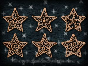Scroll Saw Star Ornaments