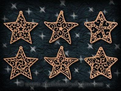 Scroll Saw Star Ornaments