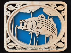 Scroll Saw Striped Bass Pattern