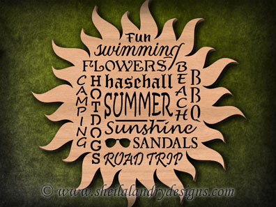 Scroll Saw Summer Word Cloud