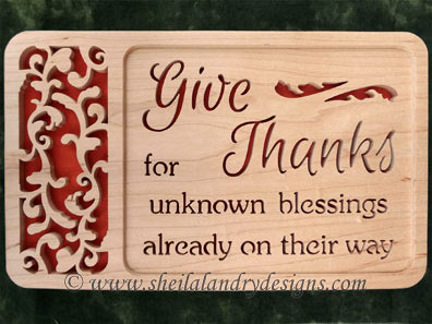 Scroll Saw Thanksgiving Pattern