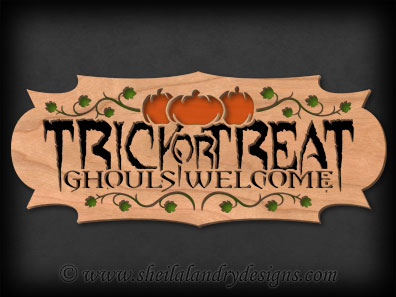 Scroll Saw Trick Or Treat Pattern