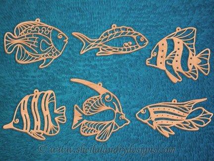 Scroll Saw Tropical Fish Pattern