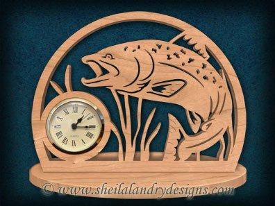 Scroll Saw Trout Clock Pattern