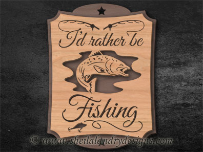 Scroll Saw Trout Fishing Pattern