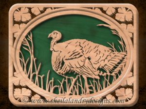 Scroll Saw Wild Turkey Pattern