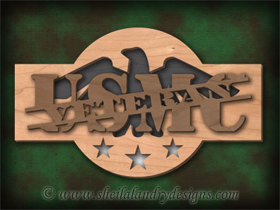 Scroll Saw USMC Pattern