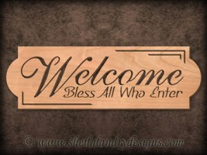 Scroll Saw Welcome Bless Pattern
