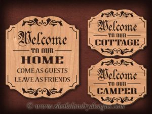 Scroll Saw Welcome Cottage Pattern