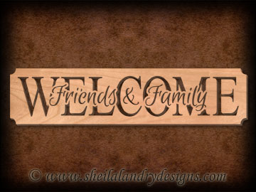 Scroll Saw Welcome Friends Family Pattern