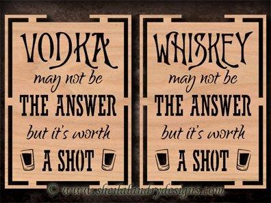 Scroll Saw Whiskey Pattern