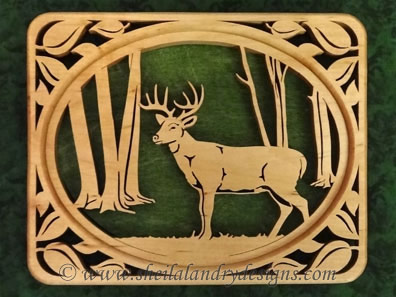 Scroll Saw Whitetail Deer Pattern