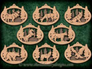 Scroll Saw Wildlife Ornaments
