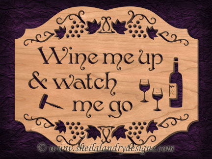 Scroll Saw Wine Pattern