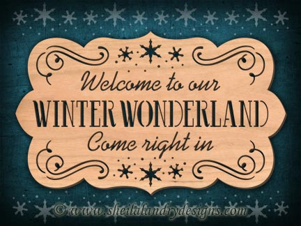 Scroll Saw Winter Welcome Pattern